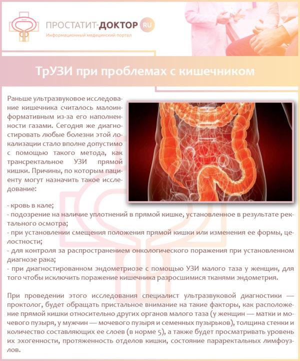 ТрУЗИ при проблемах с кишечником