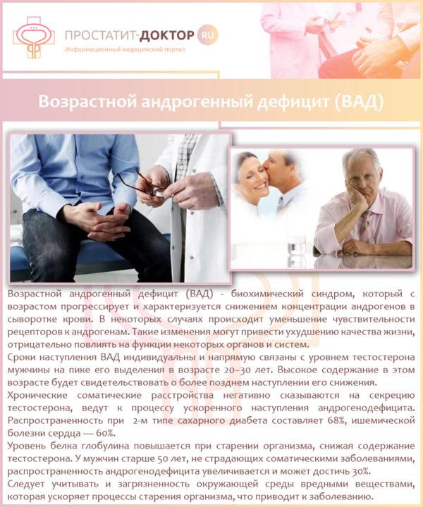 Возрастной андрогенодефицит у мужчин