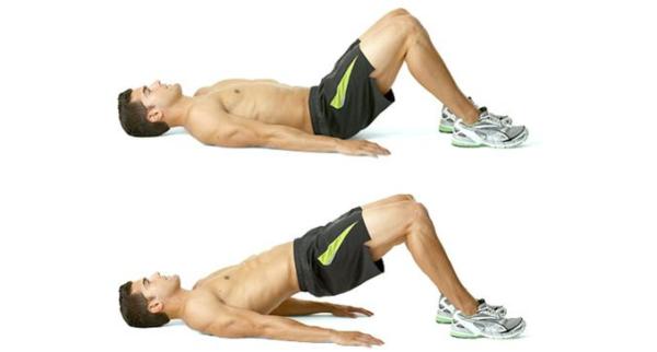 Ягодичный мостик помогает активно задействовать мышцы промежности