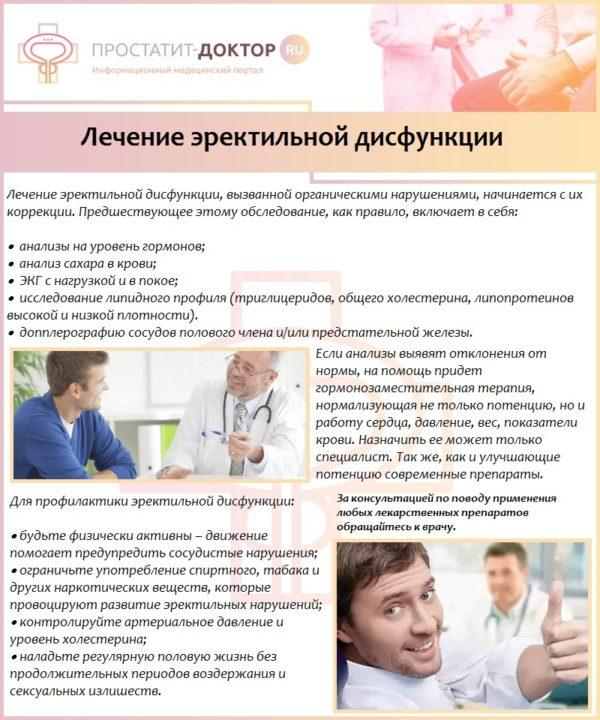 Лечение эректильной дисфункции