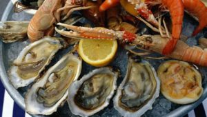 Морепродукты (моллюски, крабы, кальмар, лангусты, мидии)