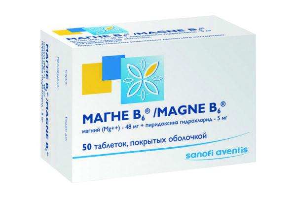 Препарат, содержащий магний и витамин В6