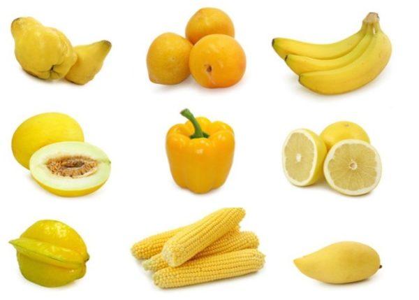 Желтые овощи и фрукты стоит исключить из рациона