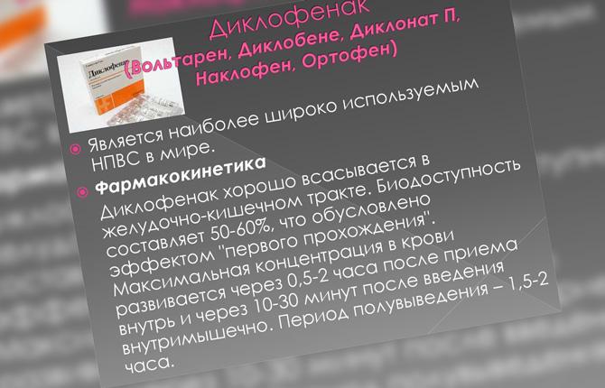 Фармакокинетика Диклофенака