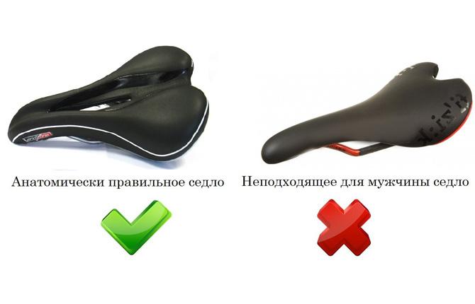 Анатомически правильное и нет сидение для велосипеда