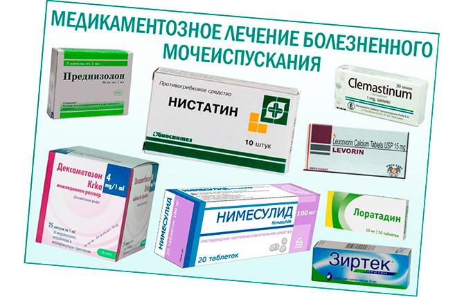 Препараты для терапии болезненного мочеиспускания